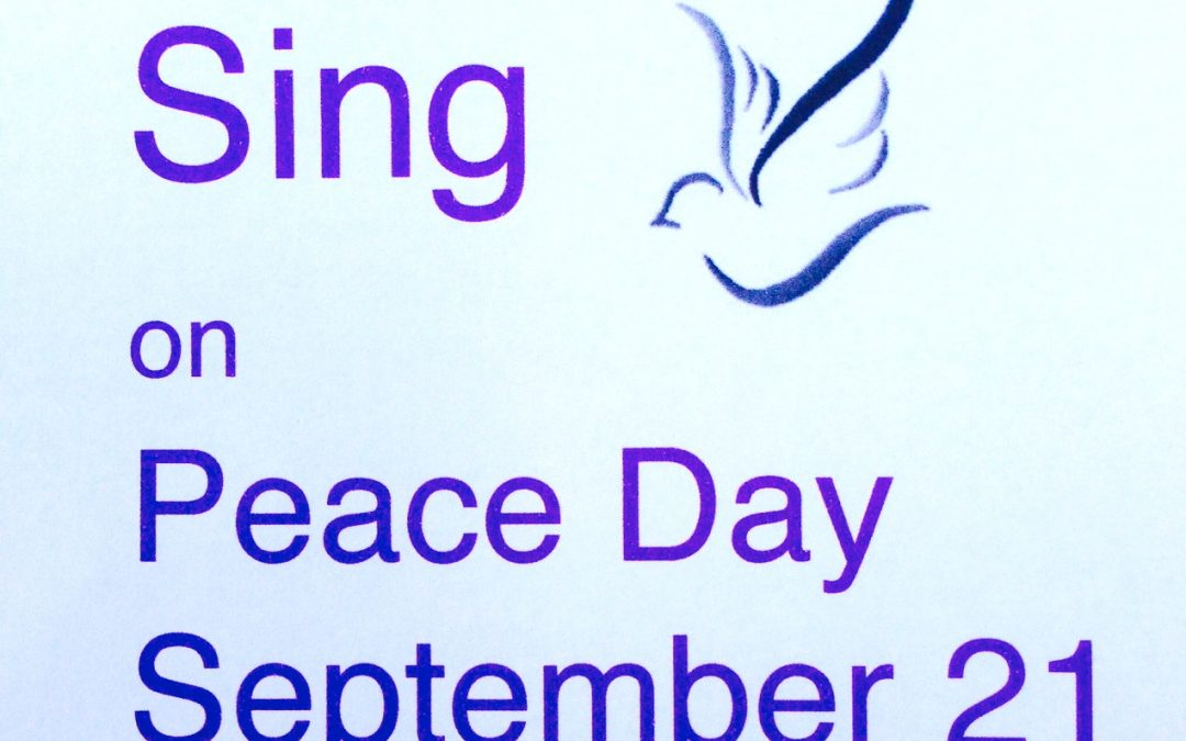 Will you be raising your voice for peace in 40 days time on Peace Day?